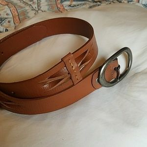Accessories - BKE Brown faux leather belt